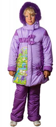 Зимняя куртка для девочек удлиненная № 221